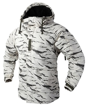 "New Edition ""SouthPlay"" Men's ""White Sand Military"" Waterproof 10,000mm Hood Double Closed Camo Warming Jacket"
