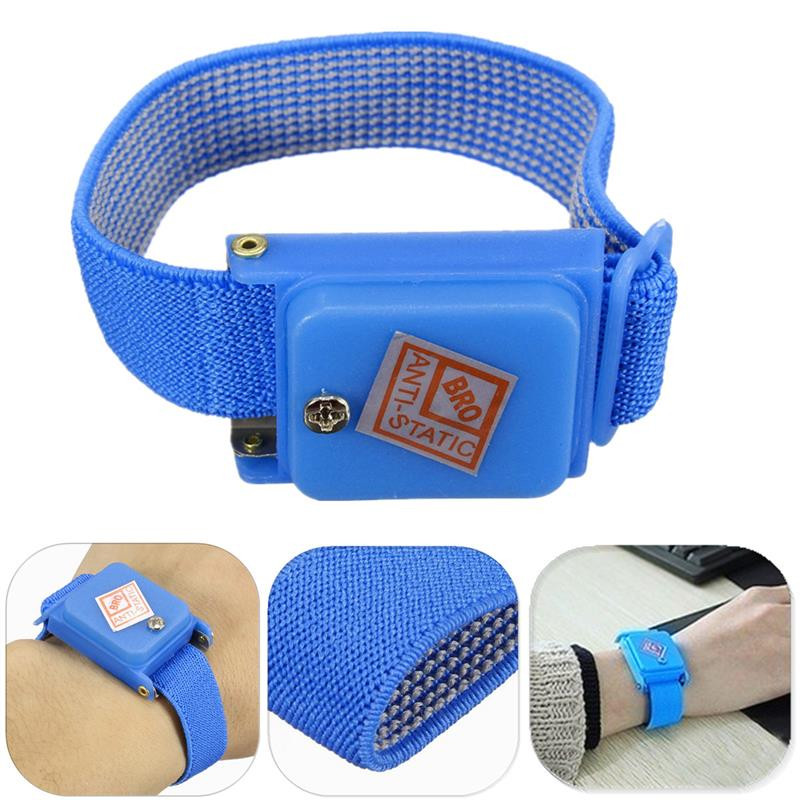 Hand & Power Tool Accessories Antistatic Wristband Esd Wrist Strap Blue Metal Discharge For Electrician Ic Plcc Worker Antistatic Bracelet Free Shipping Available In Various Designs And Specifications For Your Selection Back To Search Resultstools