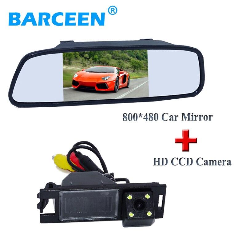 Hot selling car back up reversing caemra black shell+5 car display mirror monitor for Hyundai IX35 2010/2012 / tucson 2011