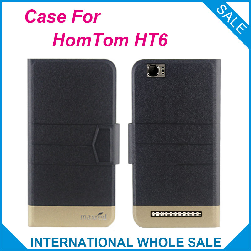 Σούπερ! 2016 HT6 HomTom Case New Arrival 5 Colors Factory Price Flip Leather Exclusive Case For HomTom HT6 Protection Case Cover