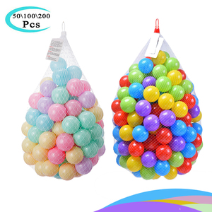 Colorful Ball Toys Inflatable Soft Plastic Ocean Ball Eco-Friendly Infant Baby Swim Pool Pit Tent Water Toys 50 100 200 Pcs Fun