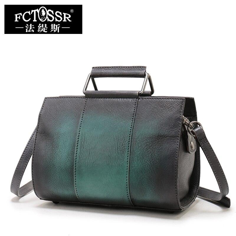 Doctor Female Handbags 2019 Cow Skin Leather Women Handbags Handmade Genuine Leather Shoulder Sling Bags Ladies