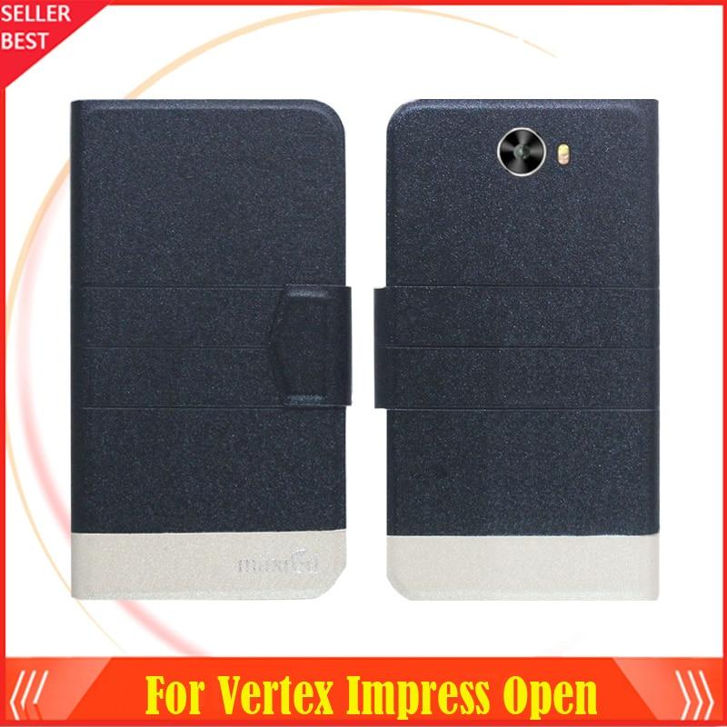 5 färger Super! Vertex Impress Open Phone Case Läderfodral, 2017 - Reservdelar och tillbehör för mobiltelefoner - Foto 2