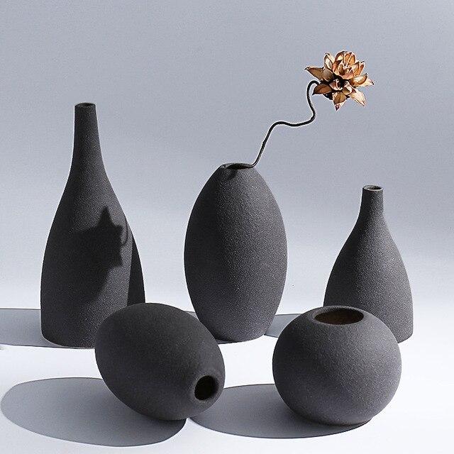 azul negro gris colores mate moderno europeo jarrones de floral florero de mesahome adornos muebles artculo with jarrones modernos - Jarrones Modernos