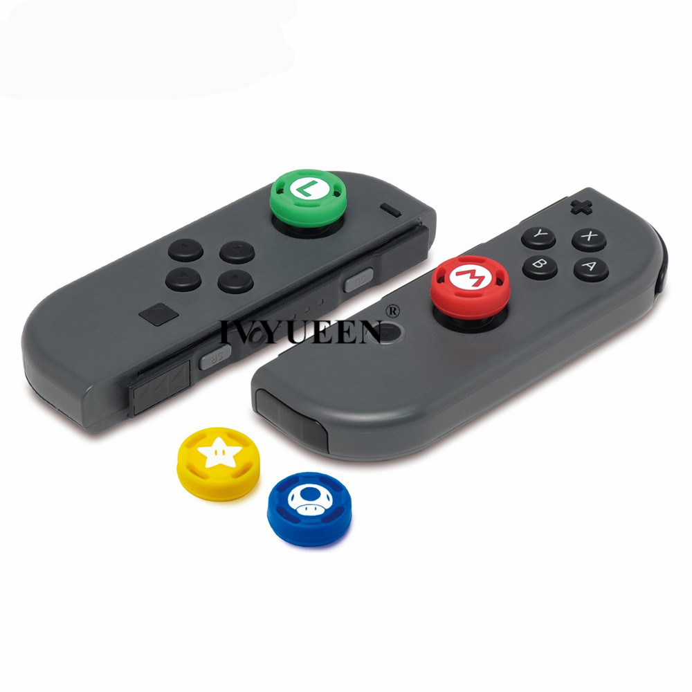 Ivyueen 2 Pcs Silicone Analog Thumb Stick Grips Caps For Nintend Switch Ns Joycon Controller Sticks Cap Skin For Joy Con Cover #4
