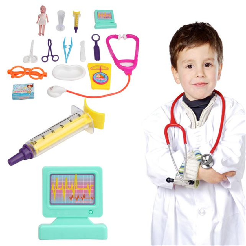 NEW Role Play 12PC Playhouse Toys Docter Hospital Simulation Utensils Christmas Gift Toy For Kids Children