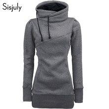 Sisjuly women hoodie sweatshirt solid hooded long sleeve pullover hoodies drawstring plus size 4XL fashion female autumn hoodie
