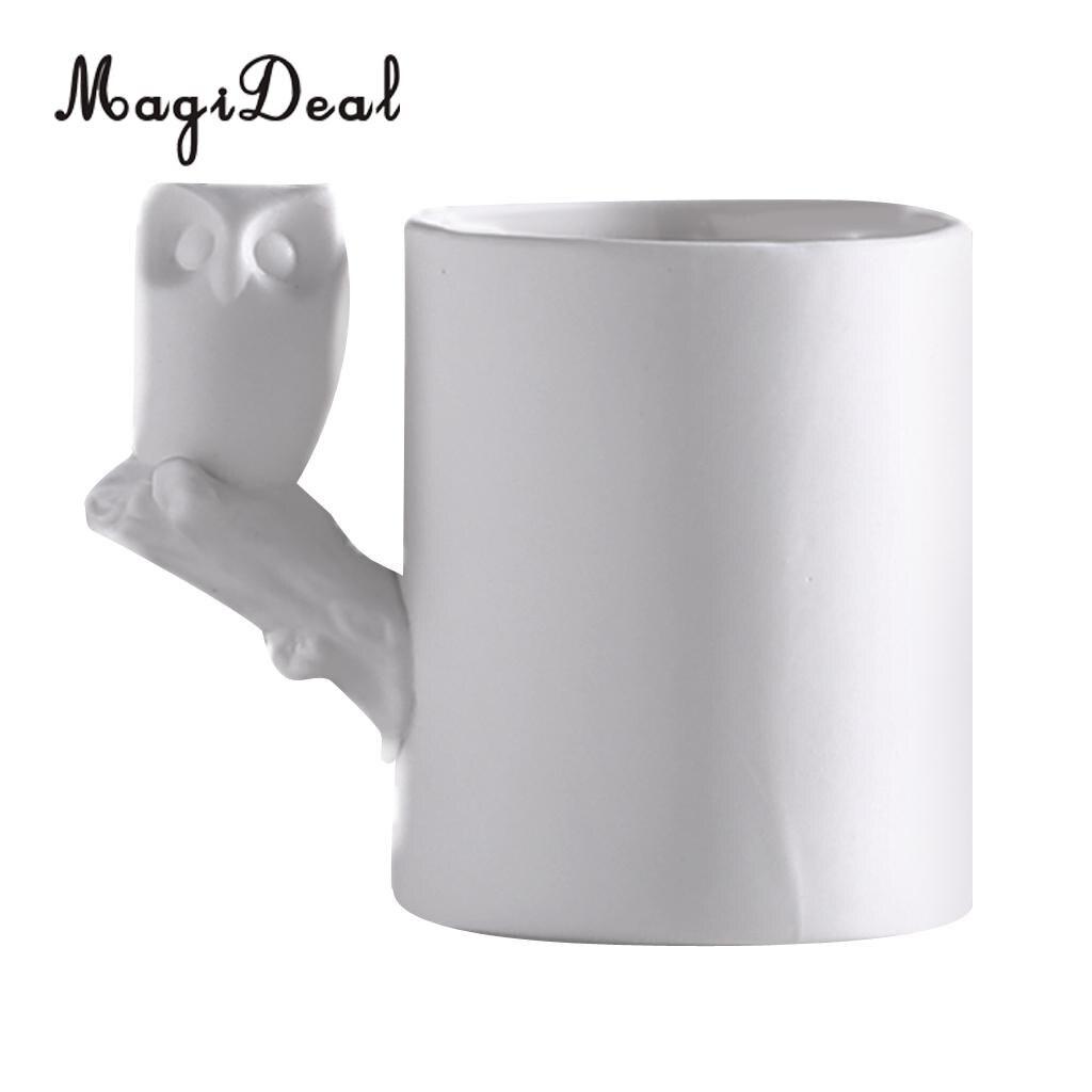 Creative White Ceramic Mug Coffee Water Milk Cup With 3d