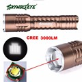 Super Focus 3000 Lumens 3 Modes CREE XML T6 LED 18650 Flashlight Torch Lamp 170118