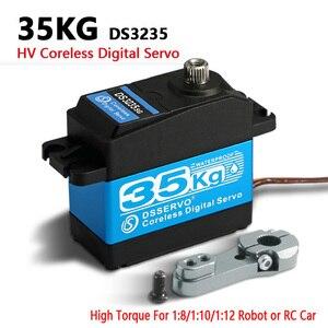 Image 2 - 1X 35キロ高トルクサーボ金属ギアデジタルとステンレス鋼ギアサーボarduinoのサーボロボットdiy、rcカー