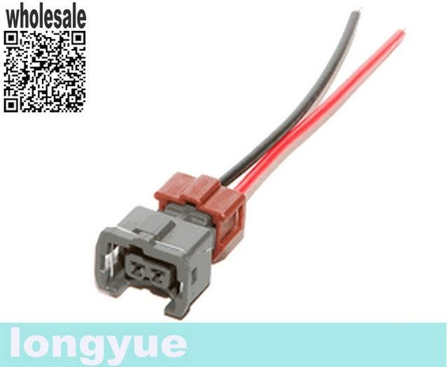 imágenes para Longyue 10kit para NISSAN 300ZX 1990-94TT 1990-92NA Viejo Estilo Del Inyector De Combustible Conector de arnés (Estilo Temprano)