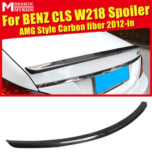 W218 Carbon Fiber Rear Frunk Spoiler Wing Lip For Benz CLS-Class CLS550 CLS500 CLS400 CLS350 AEAMG-Style 12-in