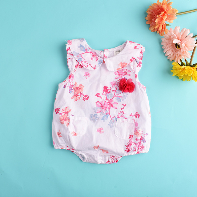 c3b4c10929 Baby Girl Clothes 2018 girls Rompers summer sleeveless rompers for newborn  kids Toddler cotton Outfits Jumpsuit Clothing