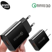 Carregador Portatil Quick Charge 3.0 18W Fast USB Plus Travel Charger For LG G7 Sansung S8 S10 S9 plus Huawei Mate x 20 P20 lite
