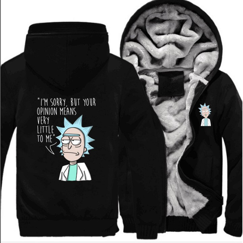 Hot Sale Winter Autumn Hoodies Rick and Morty Cosplay Costume Warm Fleece Coat Sportswear Jacket Hoodie