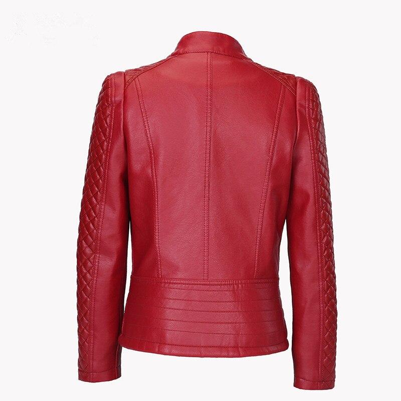 Flymokoii Կաշվե բաճկոն գարուն Plus Plus Չափ 4XL - Կանացի հագուստ - Լուսանկար 2