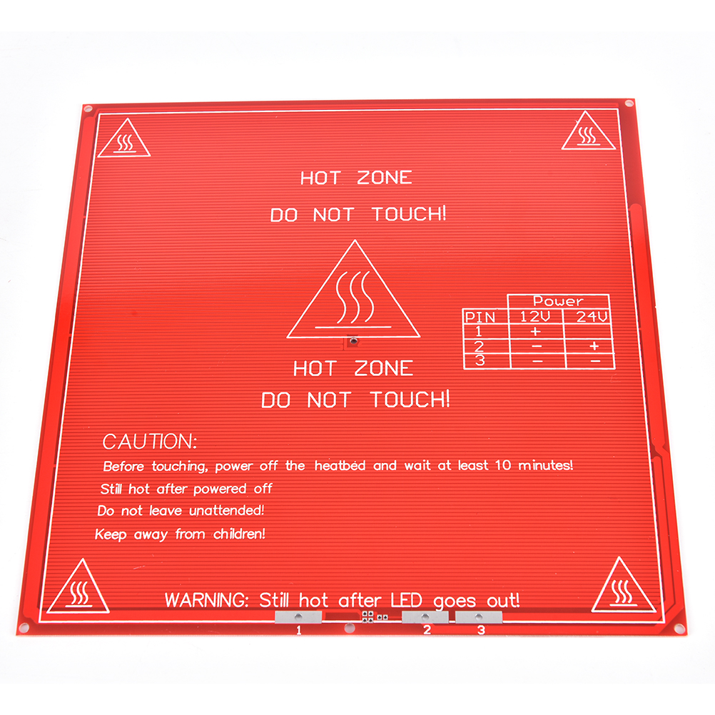 12V 24A 1x PCB Hot Plated Heatbed MK2B For RepRap Practical 3D Printer Dual Power PCB Heat Bed