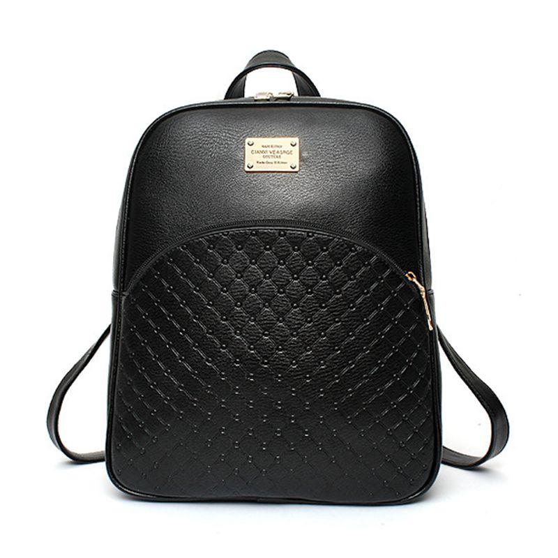 2016 новая тенденция небольшой свежий сумка мода кожа PU двойного назначения студент сумка рюкзак