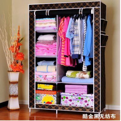 carbon steel pipe multilayer rack fashion hanging clothes cabinet simple wardrobe cloth wardrobe folding