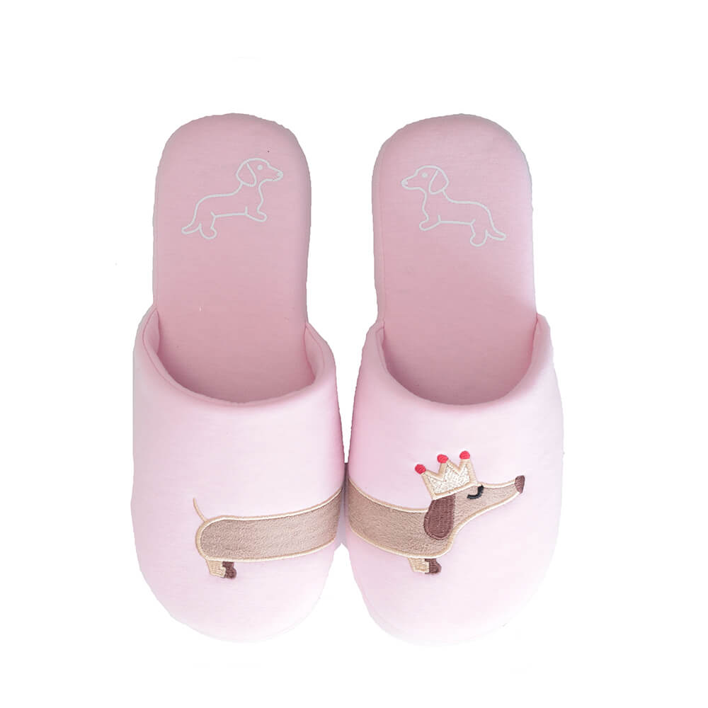 137aed65c98 Millffy Women s pink unicorn slipper Fuzzy Pink and light blue dog plush  cotton Slippers slip on Dachshund plush slippers-in Slippers from Shoes on  ...
