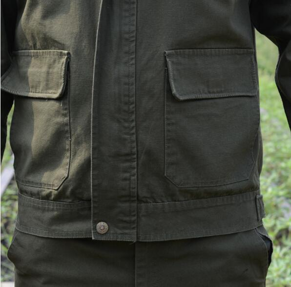 Uniforme militar caza ropa trajes de camuflaje de manga larga 100% algodón  ropa de protección 88d01344fd7