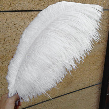 10 Colorful Pack 20-30cm Ostrich Feathers Plume Craft Centerpiece Wedding Party Decor 1