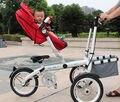 3 Moto Velocidade Ampliar & Confortável Carrinho de Bebê Dobrável Frame Da Liga de Alumínio de 16 polegadas 3 Rodas Carrinho Conversível 3 em 1
