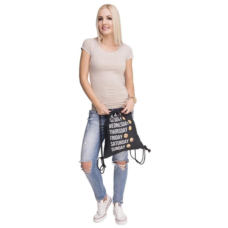 Fresh Style Drawstring Backpack Men's Bags Print Expression Backpack Summer Beach Ladies' Drawstring Backpack Children's Bag 1