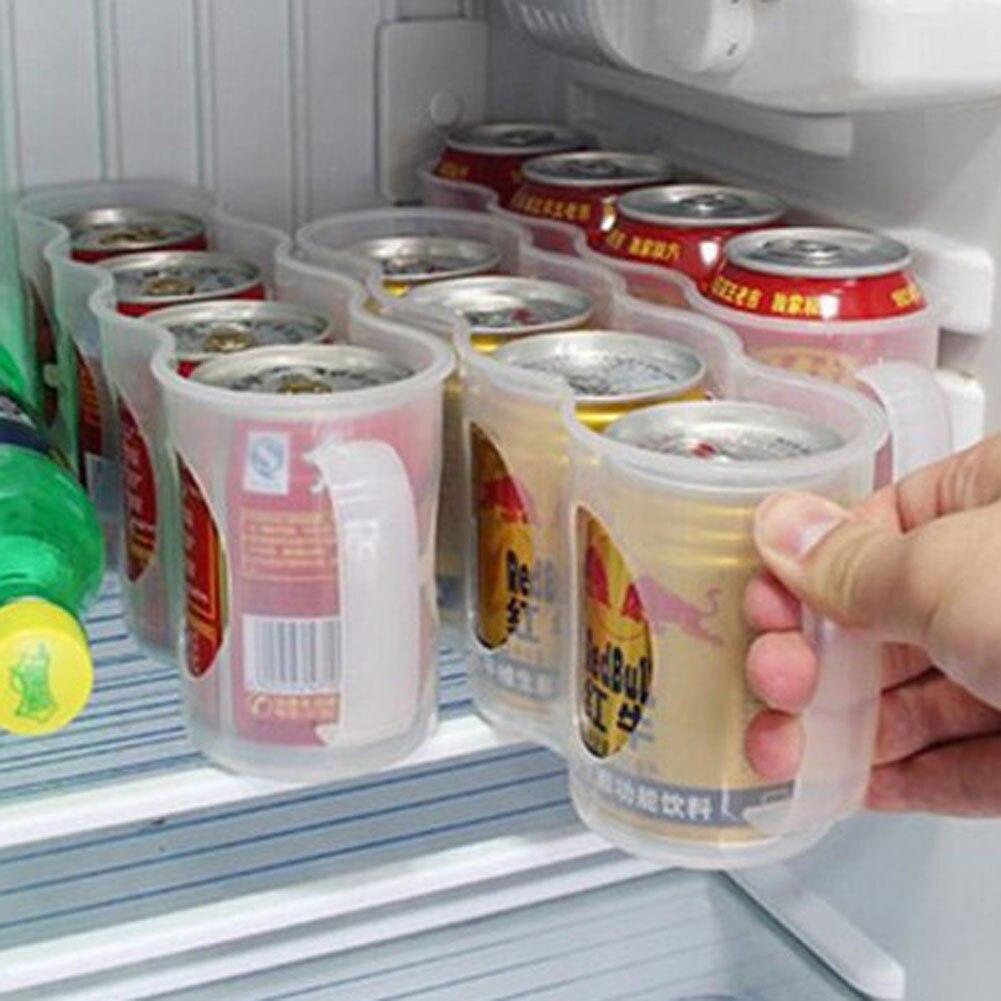 Organizer Storage-Shelf Refrigerator Beer Beverage Can Space-Saving Drink-Can Finishing