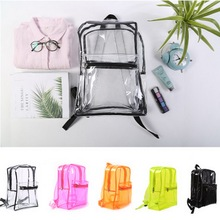 2018 PVC Hologram Transparent Backpacks Jelly Students Schoolbags Teenager  Bookbag Daily Fanny Pack Clear Bags For