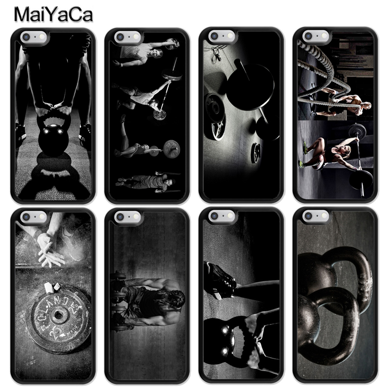 MaiYaCa Cool Gym Fitness Cross Workout Style Soft Rubber Phone Cases For iPhone 6 6S 7 8 Plus X 5 5S SE Back Cell Housing Cover