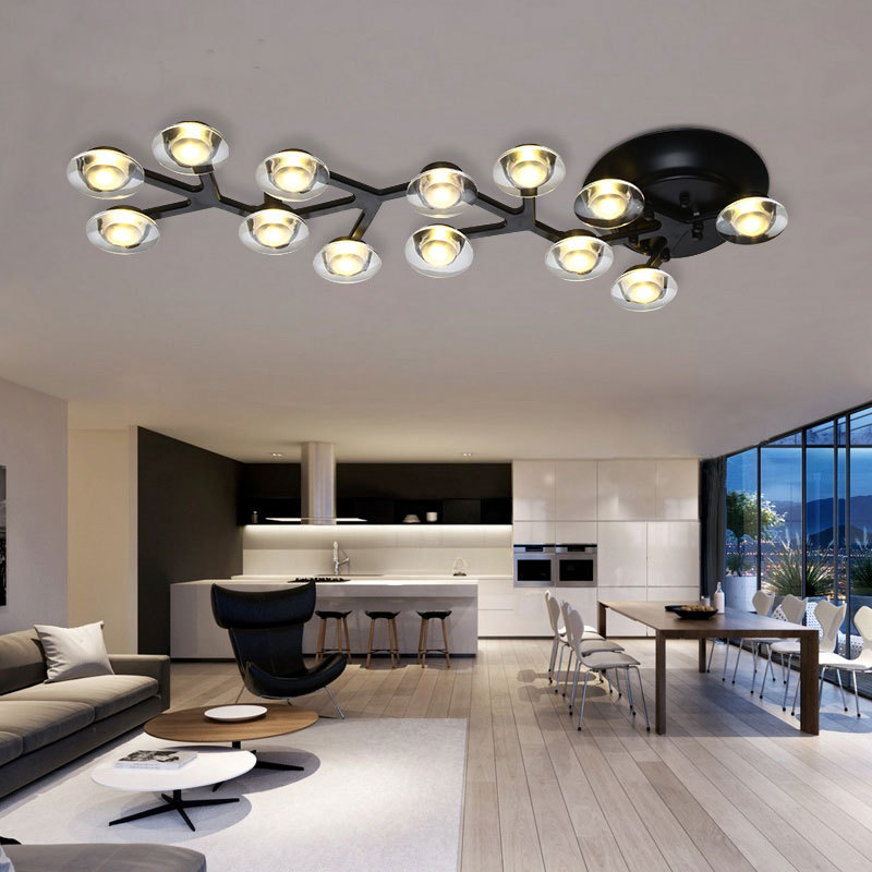 Luminaires de plafond moderne à LEDs pour salon chambre lampe de ...
