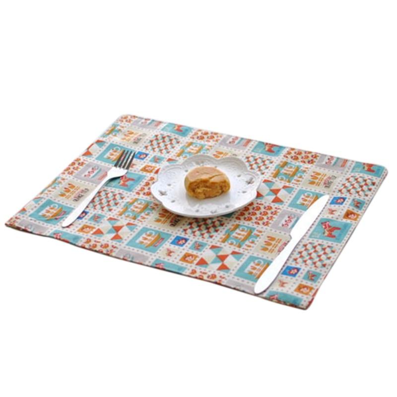 Cartoon Trojan Pads Nordic Western Style Linen Table Mat Placemats Heat Insulation Plate Mat Kitchen Dining Levert