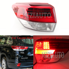 цена на MIZIAUTO Tail Lights For Toyota Highlander 2017 2018 2019 Taillight Tail Lamps Fog lamp Rear Brake light Lamp Outer