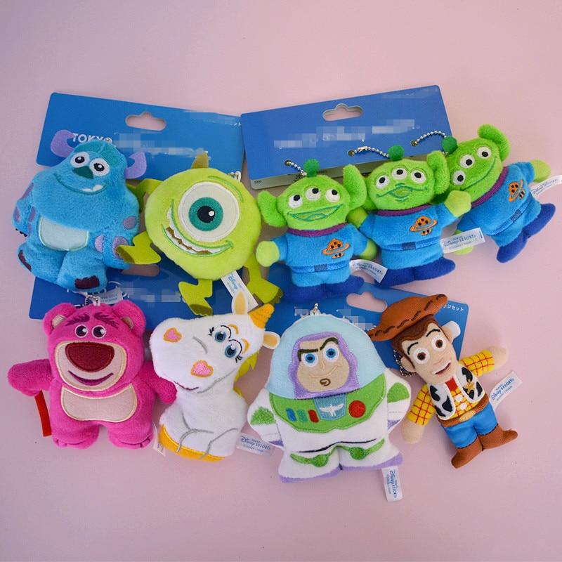 IVYYE 1PCS Toy Story Aliens Woody Cartoon Plush Dolls Key