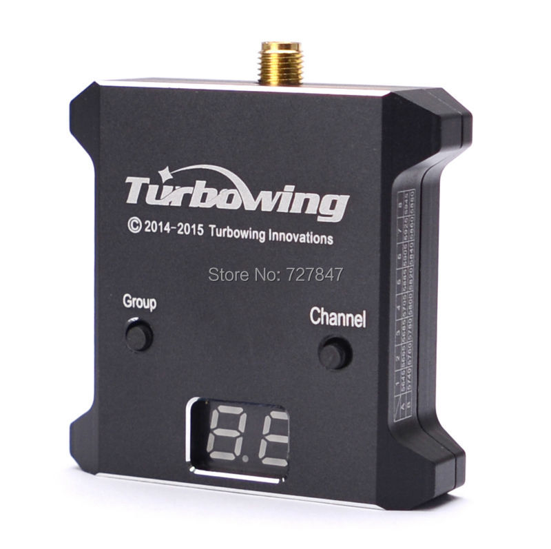 Turbowing 5.8G 32CH -95DBM FPV Wireless Receiver for RC Airplane Multicopter Effective Range 500-3000m fpv wireless 5 8g 48ch rd945 dual diversity receiver with a v and power cables for fpv racing drone rc airplane toys part