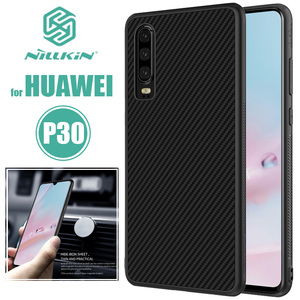 Image 1 - Huawei P30 Case Nillkin Synthetic Fiber Hard Back Cover Iron Magnetic Case for Huawei P30 Pro / P30 Lite