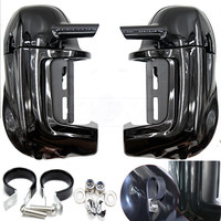 Motorcycle Lower Vented Leg Fairing with Hardware for Harley Touring Electra Glide Road King Road Street Glide FLHR 1983 to 2013