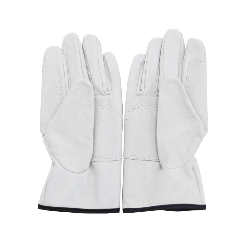 New Leather Work Safety Gloves Soft Pig Skin Better Grip For Garden Working Driving Riding  Hands Protection