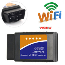 V03HW Wifi OBD2 Ecu Computer Interface 16pin Obdii Standaard Auto Detectorfout Telefoon Auto Scanner Tool Voor Android Windows