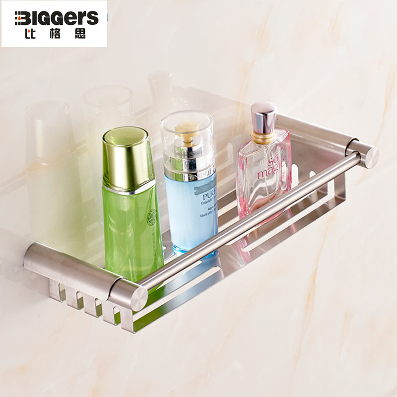 Free shipping,Biggers 304 stainless steel bathroom wall shelf ...