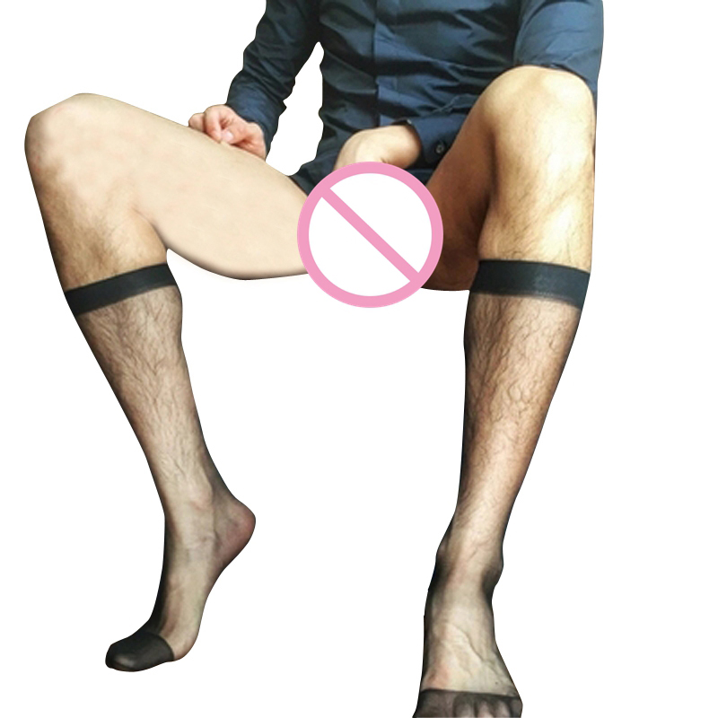 Ultra-thin Transparent Gay Men Nylon Socks Male Formal Suit Dress Hose For Leather Shoes Sexy Breathable Mesh Mens Socks
