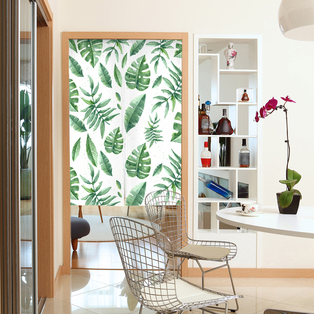 33 55 Nature Style Doorway Curtain Canvas Room Door Privacy Noren