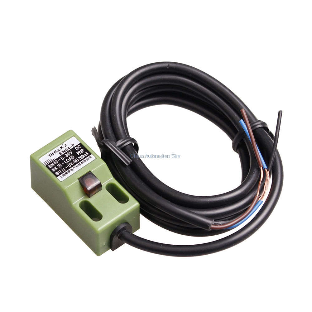 SN04-P PNP 3 Wire NO Inductive Approach Proximity Sensor Switch tca 2050a 50mm approach inductive sensor proximity switch ac 90 250v