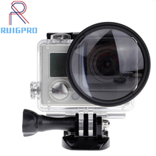 For Gopro 4/3+ Filter 52mm Close-up +10 Macro Lens Adapter Ring for gopro Hero 4/3+/3 waterproof case  Glass Accessories цена и фото