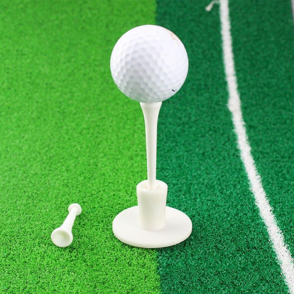 CRESTGOLF Golf Rubber Tees White Plastic Golf Tees Rubber Holder + 2 Tees Golf Practice Tee Golf Accessories