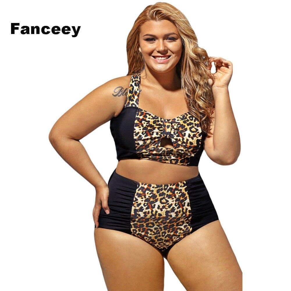 Женское бикини с леопардовым принтом Fanceey, бикини с пуш-ап, комплект из двух предметов, купальный костюм, Бразильское бикини, пляжная одежда