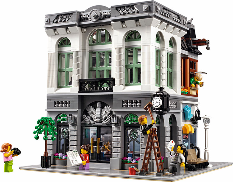 2016 New LEPIN 15001 Brick Bank Model Building Kits Blocks Bricks Kits DIY Toy Compatible With 10251 Children birthday Gift lepin 22001 pirate ship imperial warships model building kits blocks 1717pcs brick toy compatible with lepin 10210