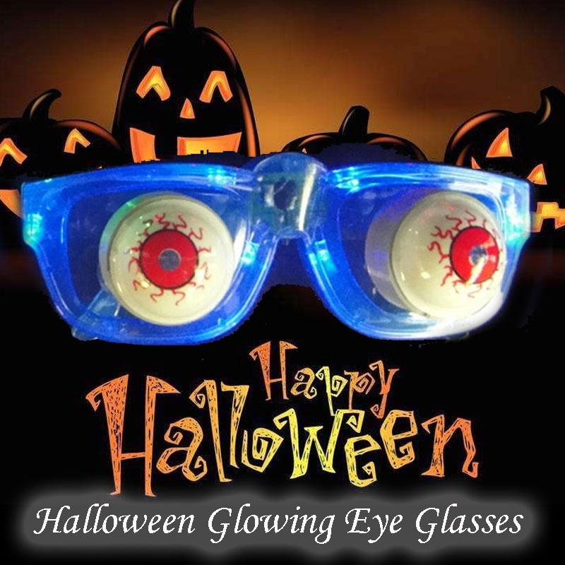 Светодиодный Очки Глазные яблоки расклешенные очки Глазные яблоки флэш-очки Глазные яблоки светодиодный пластиковый световое шоу реквизит забавная Производительность Хэллоуин