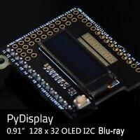 PyMono OLED 12832 Display for Python Board PyBoard 0.91 inch 128*32 I2C Compatible With PyDisplay Module Screen Diy Kit